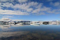 Eislagune Stockbild
