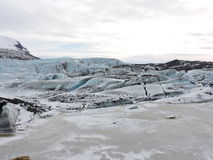 Eislagunenlandschaft Island Stockfotos