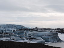 Eislagunenlandschaft Island lizenzfreies stockfoto