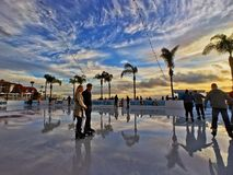 Eislauf durch das Meer im Hotel Del Coronado Lizenzfreies Stockbild
