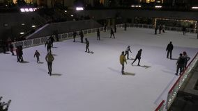 Eislauf New York City stock video footage