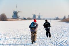 Eislaufenszene Lizenzfreies Stockbild