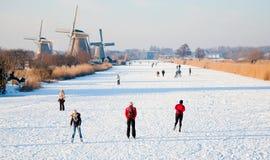 Eislaufenszene Lizenzfreie Stockfotos