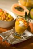 Eisnachtisch mit tropischer Frucht Lizenzfreies Stockfoto