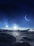 Eisplanet Stockfoto