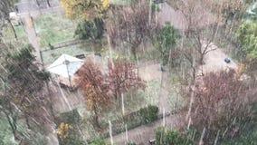 Eisregen in Chile stock footage