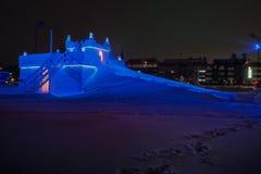 Eisschlittenschloss Schweden Stockfoto