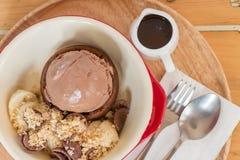 Eisschrei-Schokoladenbanane Lizenzfreies Stockbild