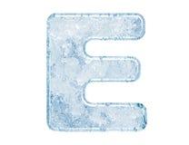 Eisschrifttyp Stockfotografie