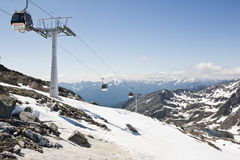 Eisseebahn to the Molltaler Glacier, Austria Royalty Free Stock Photo