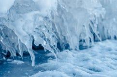 Eisspitzen. Stockbild