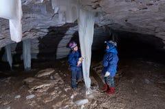 Eisstalaktiten Stockbild
