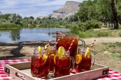 Eistee am Picknick in Grand Junction, Colorado Stockfotos