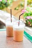 Eistee und gefrorener Kaffee Lizenzfreies Stockfoto