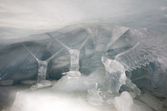 Eistunnel bei Jungfraujoch Stockfotos