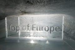 Eistunnel bei Jungfraujoch Lizenzfreies Stockbild