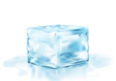 Eiswürfel auf einem weißen Hintergrund Lizenzfreies Stockbild