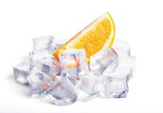 Eiswürfel und -orange stockfotos