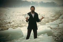 Eiswelle Eiszeit des kühlen Wetters und Lizenzfreie Stockfotos