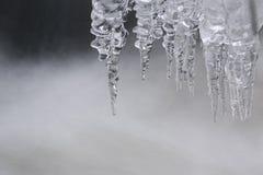 Eiszapfen auf dem Wasser Lizenzfreies Stockfoto