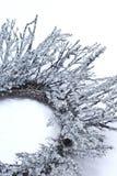 Eiszapfen auf Wreath Stockbilder