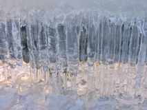 Eiszapfen des natürlichen Eises Lizenzfreie Stockfotografie