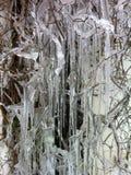 Eiszapfen an einem kalten Wintertag Lizenzfreies Stockbild