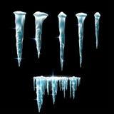 Eiszapfen eingestellt Stockbilder