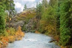 Eiszapfen-Nebenfluss Leavenworth Washington Lizenzfreies Stockbild