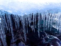 Eiszapfen von Minnesota Stockfotos