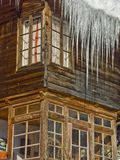 Eiszapfen-Vorhang lizenzfreies stockfoto