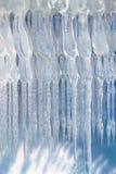 Eiszapfendekoration Stockfoto