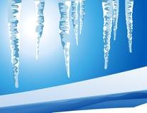 Eiszapfenlandschaft Stockfotos