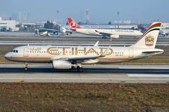 A6-EIT Etihad Airways Aerobus A320-232 Fotografia Royalty Free