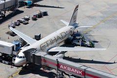 A6-EIT Etihad Airways Aerobus A320-232 Obrazy Stock