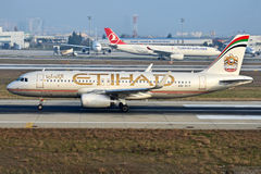 A6-EIT Etihad Airways Airbus A320-232 Royalty Free Stock Photography