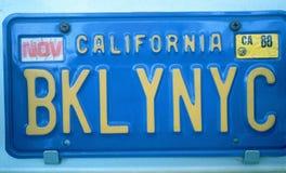 Eitelkeits-Kfz-Kennzeichen - Kalifornien Lizenzfreie Stockfotografie