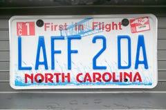 Eitelkeits-Kfz-Kennzeichen - North Carolina Lizenzfreies Stockbild