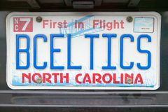 Eitelkeits-Kfz-Kennzeichen - North Carolina Lizenzfreie Stockbilder