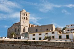 Eivissa Church. Church in Eivissa, Dalt Villa on the island of Ibiza stock photos