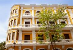 Eivissa ibiza town buildings in Vila Stock Photos