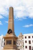 Eivissa Ibiza town corsair monument Stock Photos