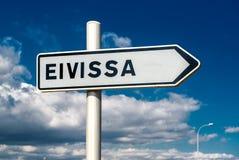 Eivissa-Wegweiser Stockbilder