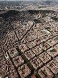 Eixample, Barcelone, du ciel photos stock