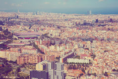 The Eixample district of Barcelona in Spain Royalty Free Stock Images