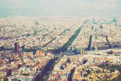 The Eixample district of Barcelona in Spain Stock Image