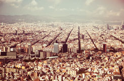 The Eixample district of Barcelona in Spain Stock Photography