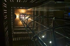 Eixo de elevador na torre velha Fotos de Stock Royalty Free