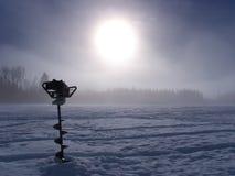 Eixo helicoidal do gelo Imagens de Stock Royalty Free