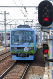 Eizan Electric Railway Train in Kyoto Royalty Free Stock Photos
